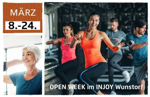 <strong>OPEN WEEK IM INJOY WUNSTORF vom 18. - 24.03.2019</strong>